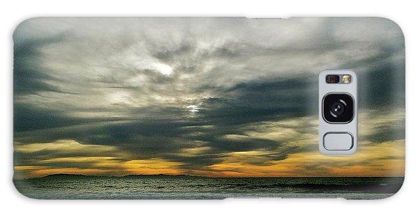 Stormy Beach Clouds Galaxy Case