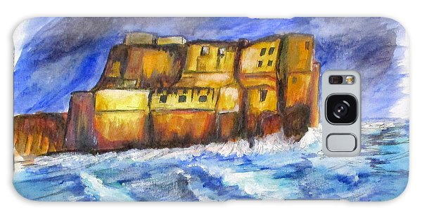 Stormy Castle Dell'ovo, Napoli Galaxy Case by Clyde J Kell