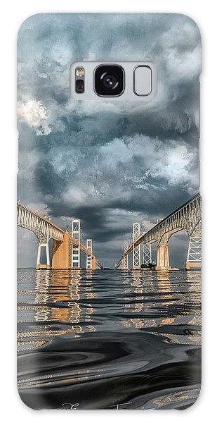 Stormy Chesapeake Bay Bridge Galaxy Case