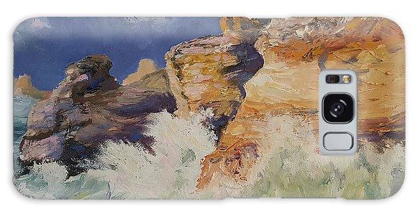 Stormy Cliffs At Sea Galaxy Case