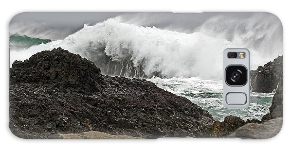 Stormy Day At Ballintoy Harbour Galaxy Case