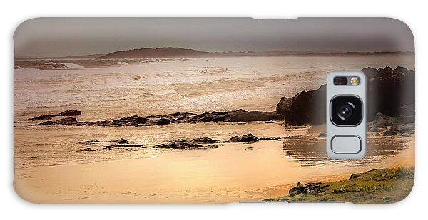 Galaxy Case featuring the photograph Stormy Day At Gallows Beach by Wallaroo Images