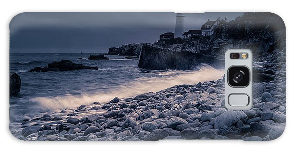 Galaxy Case featuring the photograph Stormy Lighthouse 2 by Doug Camara