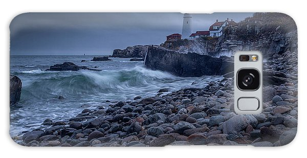 Galaxy Case featuring the photograph Stormy Lighthouse by Doug Camara