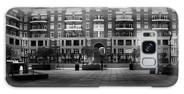 Stormy Morning At North Church Condos In Black And White Galaxy Case