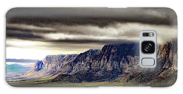 Stormy Morning In Red Rock Canyon Galaxy Case