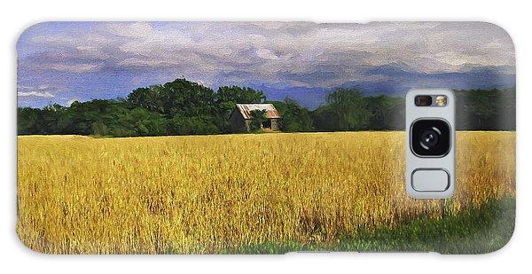 Stormy Old Barn In Wheat Field 2 Galaxy Case