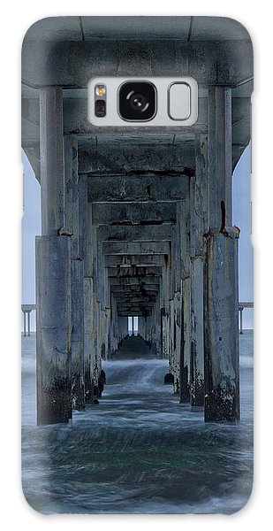 Stormy Pier In Ocean Beach Galaxy Case