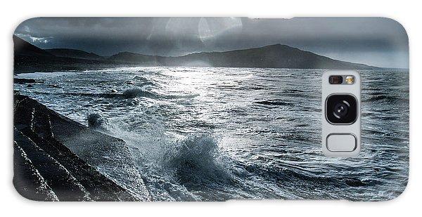 Stormy Seas At Tanybwlch Aberystwyth Galaxy Case