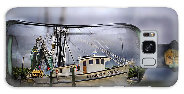Galaxy Case featuring the photograph Stormy Seas - Ship In A Bottle by Bill Barber