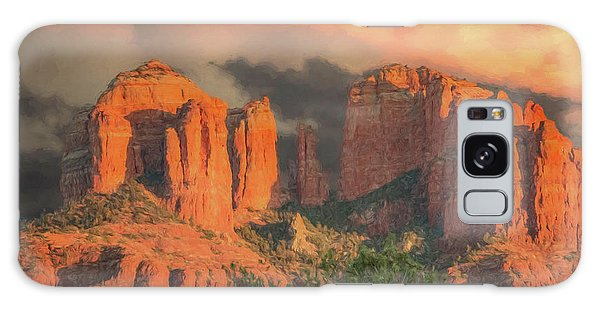 Stormy Sedona Sunset Galaxy Case