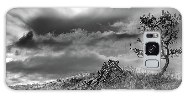 Stormy Sky At The Ranch Galaxy Case
