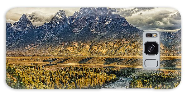 Stormy Sunrise Over The Grand Tetons And Snake River Galaxy Case