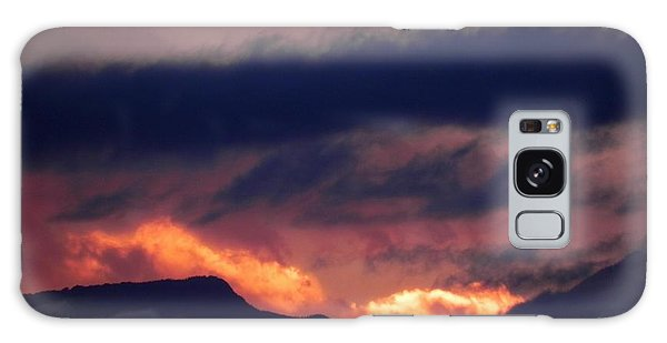 Galaxy Case - Stormy Sunset by Adrienne Petterson