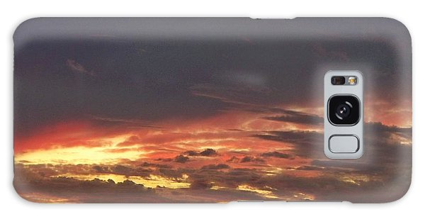 Stormy Sunset Galaxy Case by Betty Northcutt