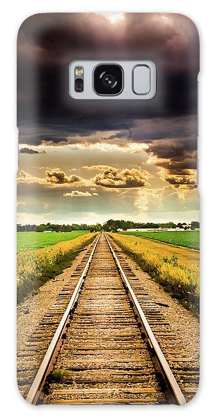 Stormy Tracks Galaxy Case