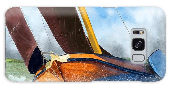 Stormy Weather Skutsje Sailing Ship Galaxy Case