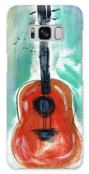Rock And Roll Galaxy S8 Case - Storyteller's Guitar by Linda Woods