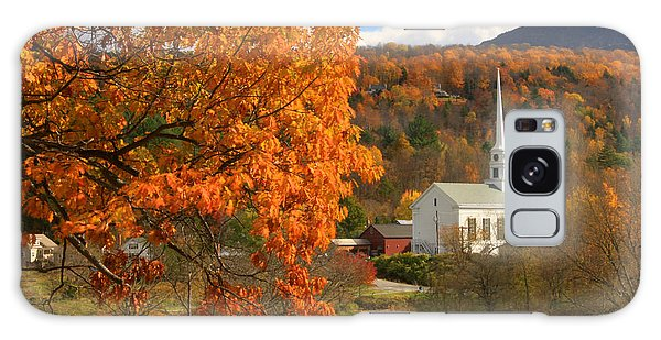 Stowe Vermont In Autumn Galaxy Case by John Burk