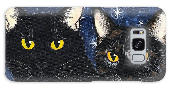 Strangeling's Felines - Black Cat Tortie Cat Galaxy Case