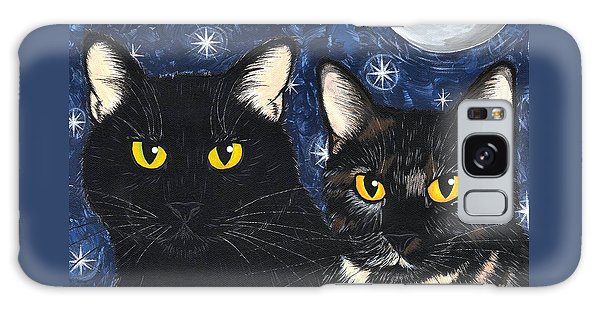Strangeling's Felines - Black Cat Tortie Cat Galaxy Case by Carrie Hawks