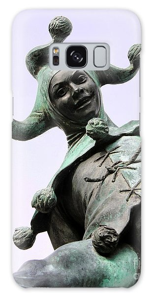 Stratford's Jester Statue Galaxy Case by Terri Waters