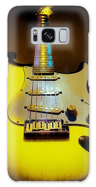 Galaxy Case featuring the digital art Stratocaster Lemon Burst Glow Neck Series by Guitar Wacky