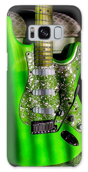 Galaxy Case featuring the photograph Stratocaster Plus In Green by Guitar Wacky