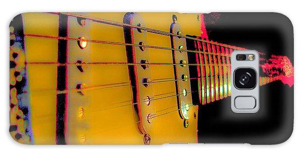 Galaxy Case featuring the photograph Guitar Pop Art Hot Rasberry Fire Neck Series by Guitar Wacky