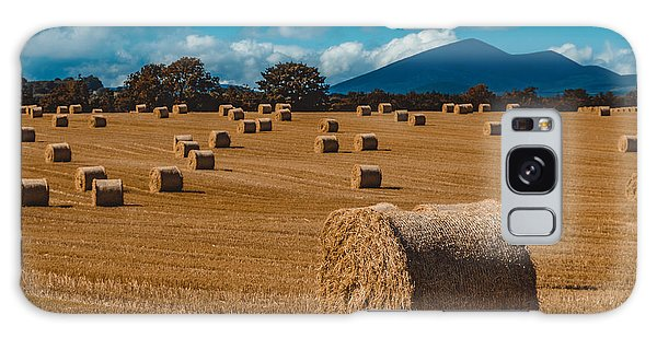 Straw Bale In A Field Galaxy Case