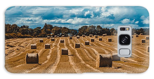 Straw Bales In A Field Galaxy Case