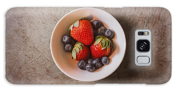 Strawberries And Blueberries Galaxy Case by Scott Norris