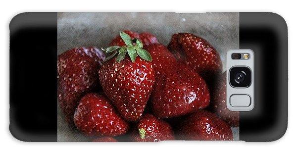 Strawberries Galaxy Case by Marija Djedovic