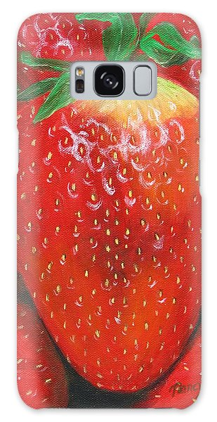 Galaxy Case featuring the painting Strawberries by Nancy Nale