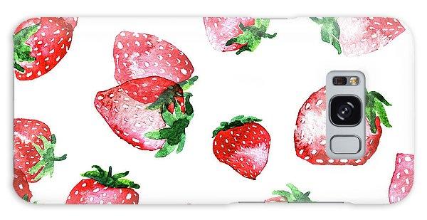 Strawberries Galaxy Case by Varpu Kronholm