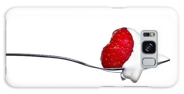Strawberry And Cream Galaxy Case by Gert Lavsen