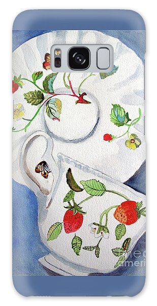 Strawberry Cup And Saucer Galaxy Case by Sandy McIntire
