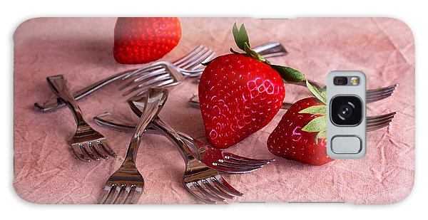 Strawberry Delight Galaxy Case by Tom Mc Nemar