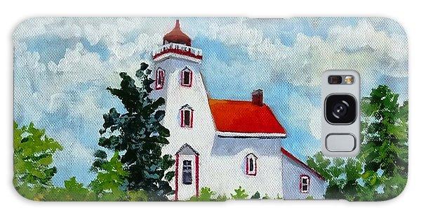 Strawberry Island Lighthouse, Manitoulin Island Galaxy Case