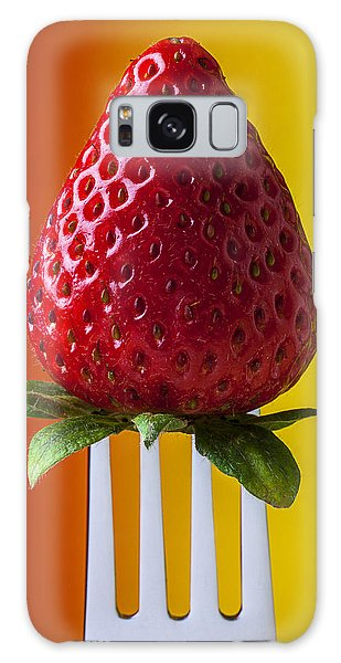 Strawberry Galaxy Case - Strawberry On Fork by Garry Gay