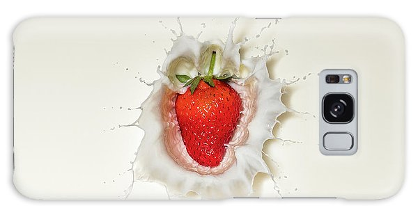 Strawberry Splash In Milk Galaxy Case