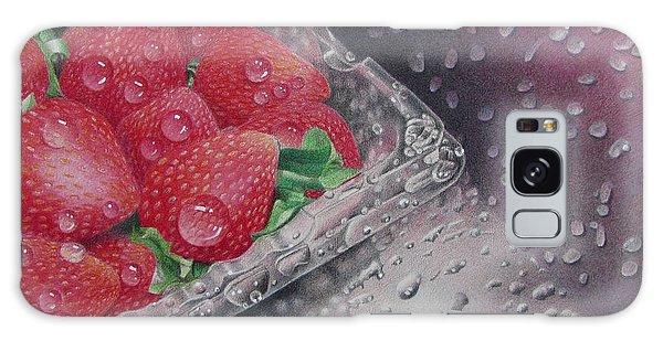 Strawberry Splash Galaxy Case by Pamela Clements