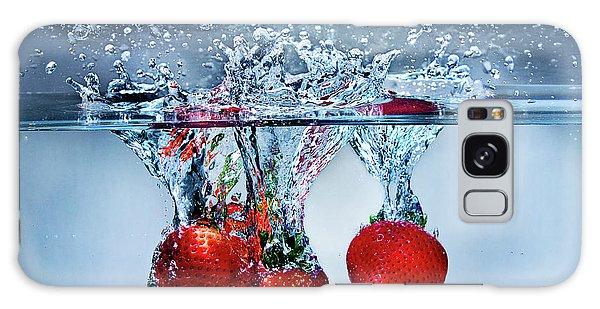 Strawberry Splash Galaxy Case