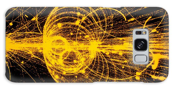 Streamer Chamber Photo Of Particle Tracks Galaxy Case