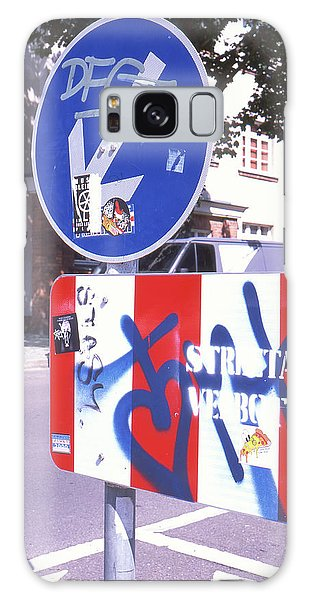 Street Art In Street Sign Galaxy Case