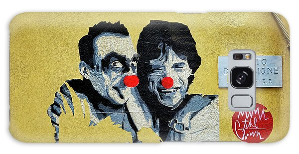 Street Art In The Trastevere Neighborhood In Rome Italy Galaxy Case