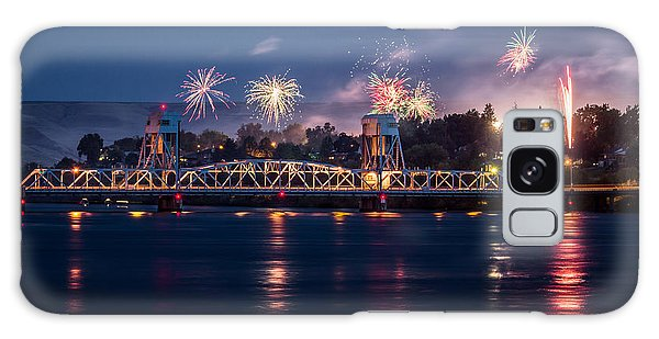 Street Fireworks By The Blue Bridge Galaxy Case