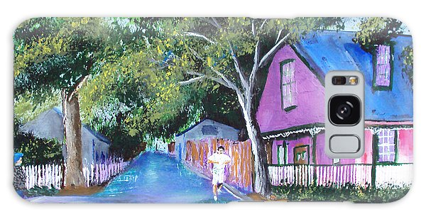 Street In St Augustine Galaxy Case by Luis F Rodriguez
