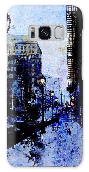 Street Lamps Sidewalk Abstract Galaxy Case