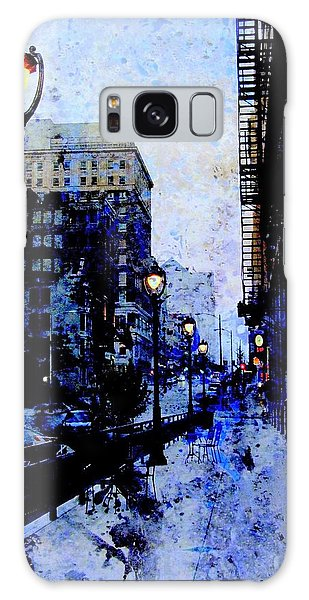 Street Lamps Sidewalk Abstract Galaxy Case